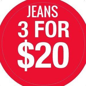 Denim - BUNDLE 3 FOR $20 ON JEANS/SHORTS